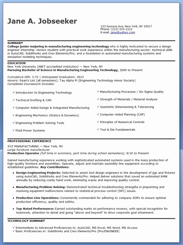 Entry Level Electrical Engineer Resume Inspirational Design Engineer Resume Sample Entry Level