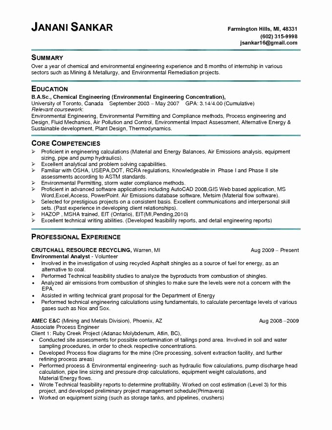 Entry Level Electrical Engineer Resume Lovely 9 10 Engineering Skills for Resume