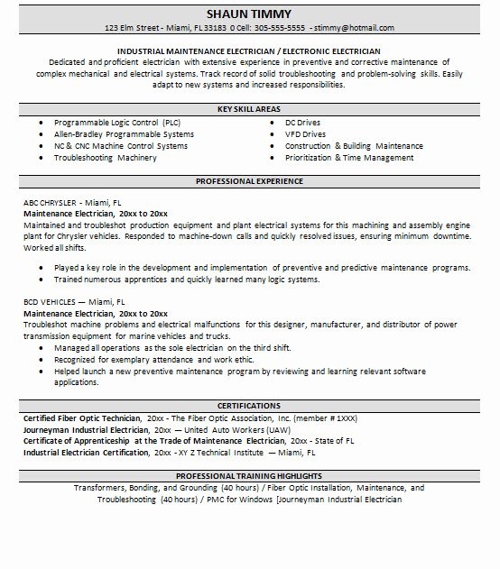 Entry Level Electrical Engineer Resume Lovely Apprentice Electrical Engineer Resume 3