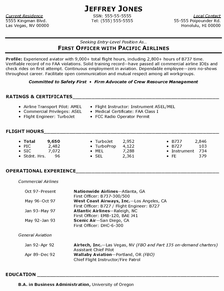Entry Level Flight attendant Resume Inspirational Pin by Calendar 2019 2020 On Latest Resume