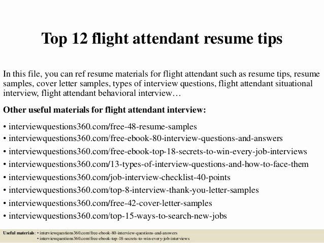 Entry Level Flight attendant Resume Unique Flight attendant Resume Sample Populationthesis X Fc2