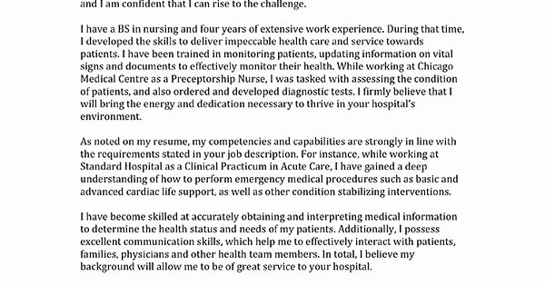 Entry Level Nurse Cover Letter Unique Learn How to Write A Nursing Cover Letter Inside We Have Entry Level and Professional Samples
