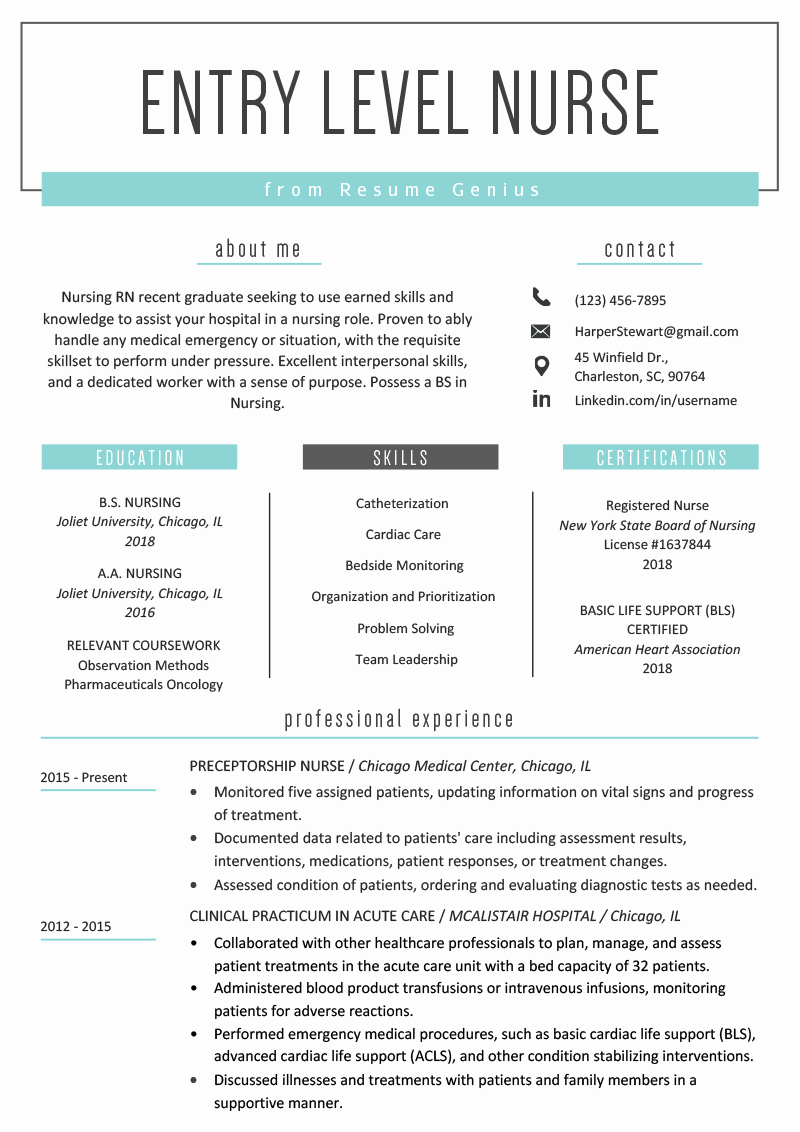 Entry Level Nursing Cover Letter Beautiful Entry Level Nurse Resume Sample