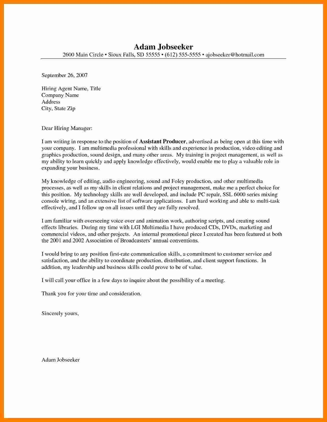 Entry Level Nursing Cover Letter Inspirational 7 Entry Level Engineering Cover Letter