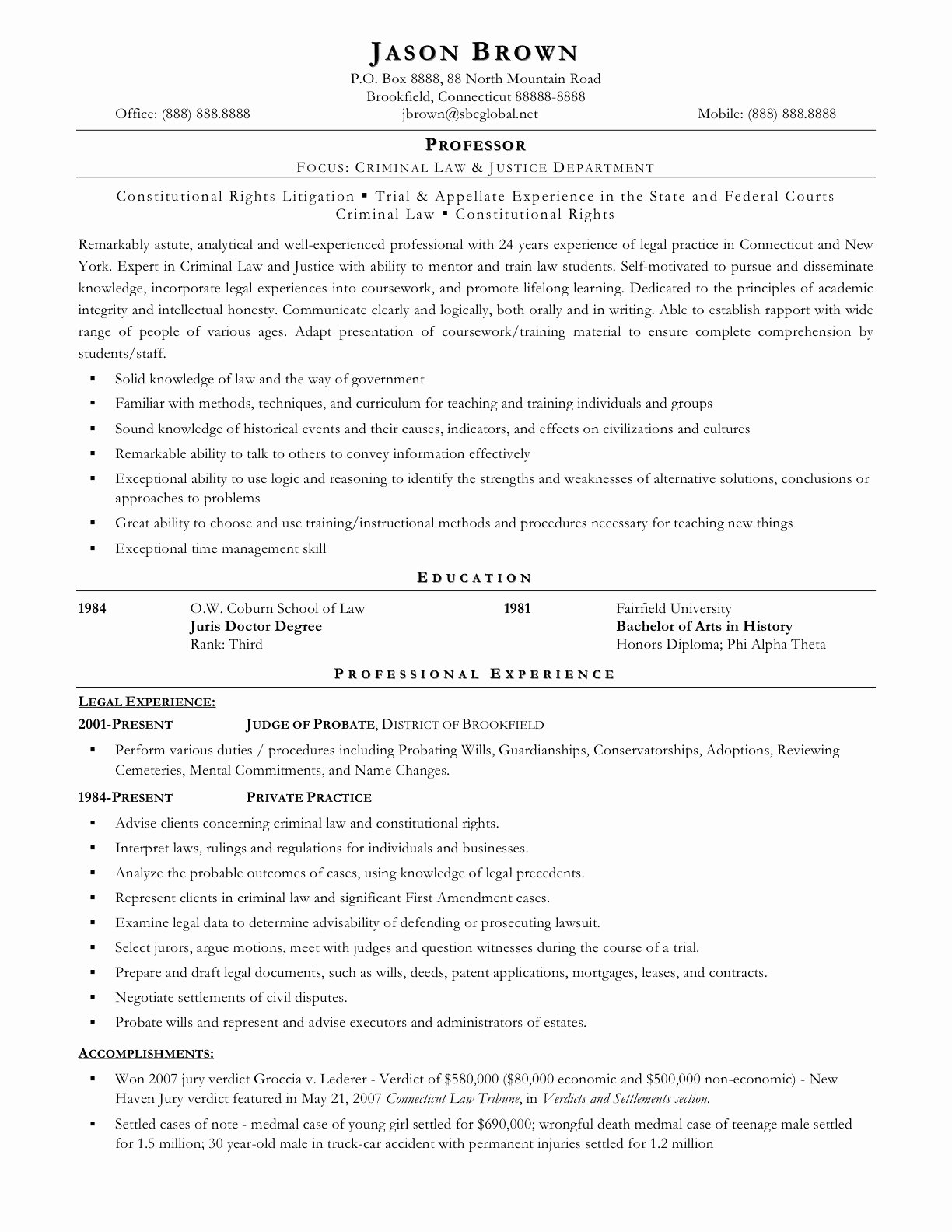 Entry Level Paralegal Resume Best Of 12 13 Paralegal Resume format