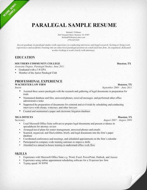 Entry Level Paralegal Resume Elegant Entry Level Paralegal Resume Samples Paralegal