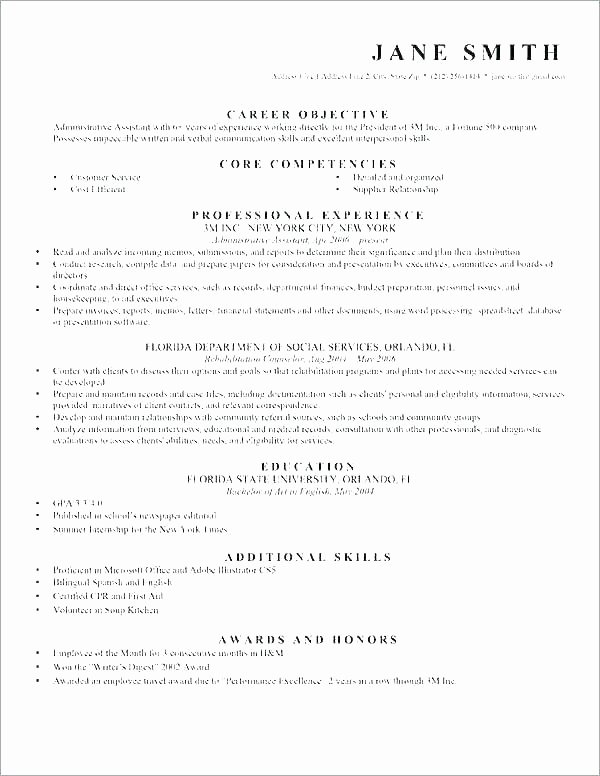 Entry Level Paralegal Resume Inspirational Resume Objective for Paralegal – Wikirian