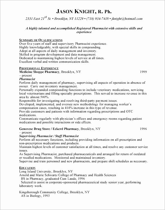 Entry Level Pharmacy Technician Resume Elegant Pin by topresumes On Latest Resume