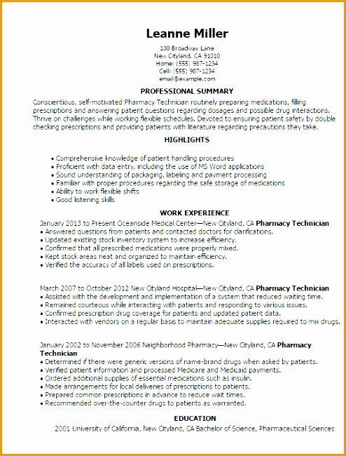 Entry Level Pharmacy Technician Resume Luxury 7 Entry Level Resume Template Free Free Samples Examples & format Resume Curruculum Vitae