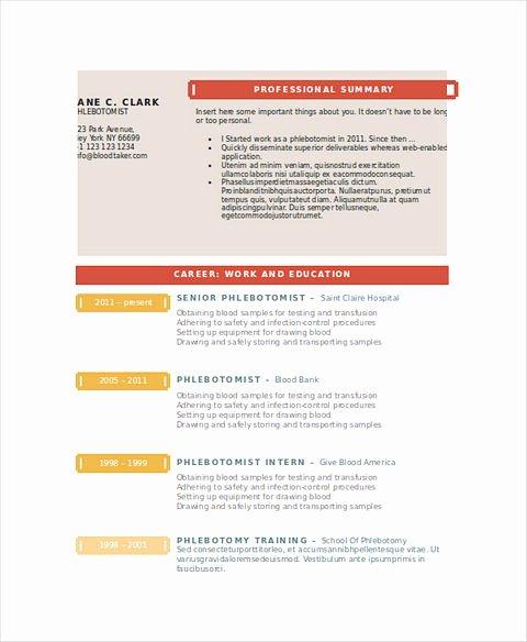 Entry Level Phlebotomist Resume Best Of Phlebotomy Resume Sample and Tips
