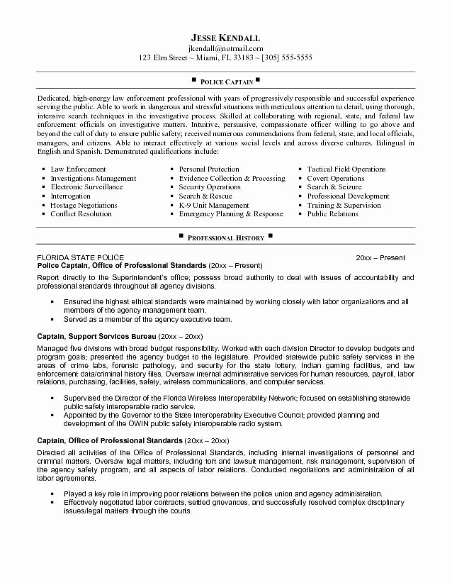 Entry Level Police Officer Resume Luxury Pin by John Rone On Resume