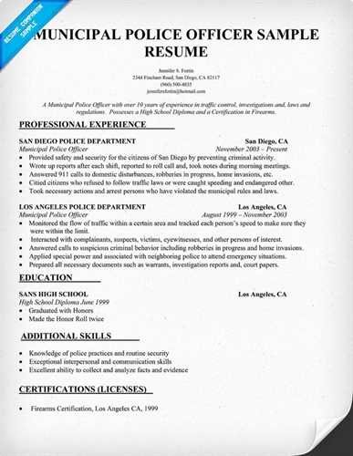 Entry Level Police Officer Resume Luxury Sample Retired Police Ficer Resume Resume Samples