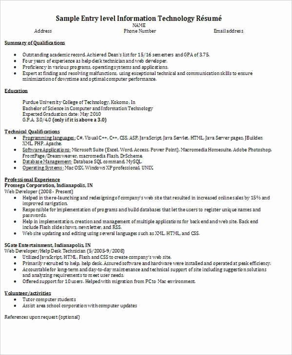Entry Level Programmer Resume Fresh 45 Fresher Resume Templates Pdf Doc