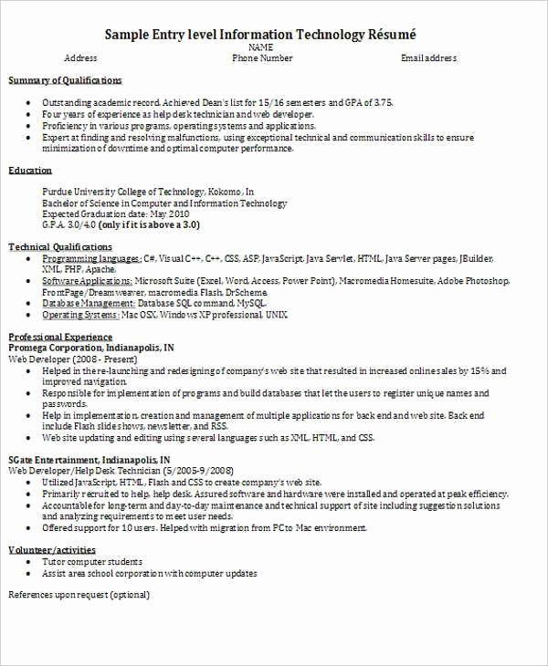 Entry Level Programmer Resume Fresh 45 Fresher Resume Templates Pdf Doc
