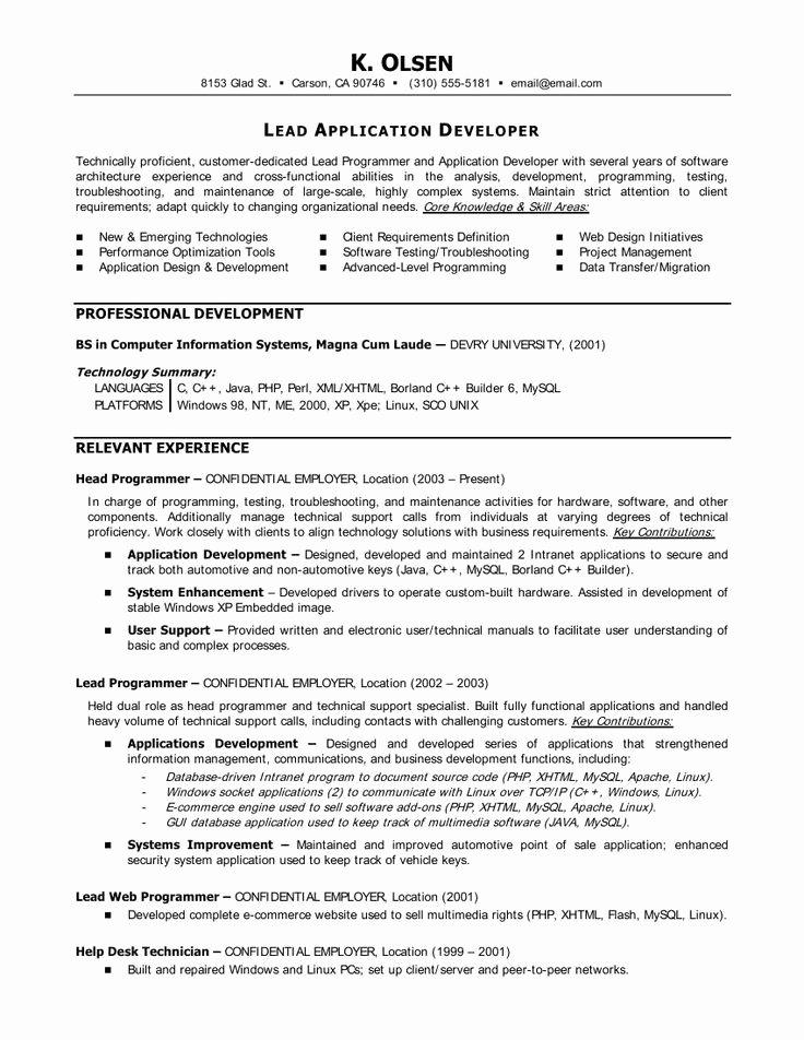 Entry Level Programmer Resume Fresh Statistician Resume Cover Letter O Statistician Resume Cover Letter