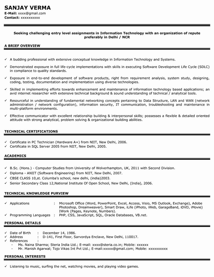 Entry Level Sales Resume Beautiful Sales Resume Sample Sample Resume for Sales Manager Naukri
