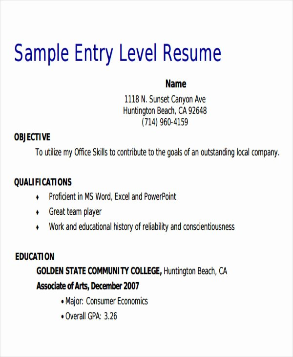 Entry Level Sales Resume Fresh 18 Sales Resume Templates In Pdf
