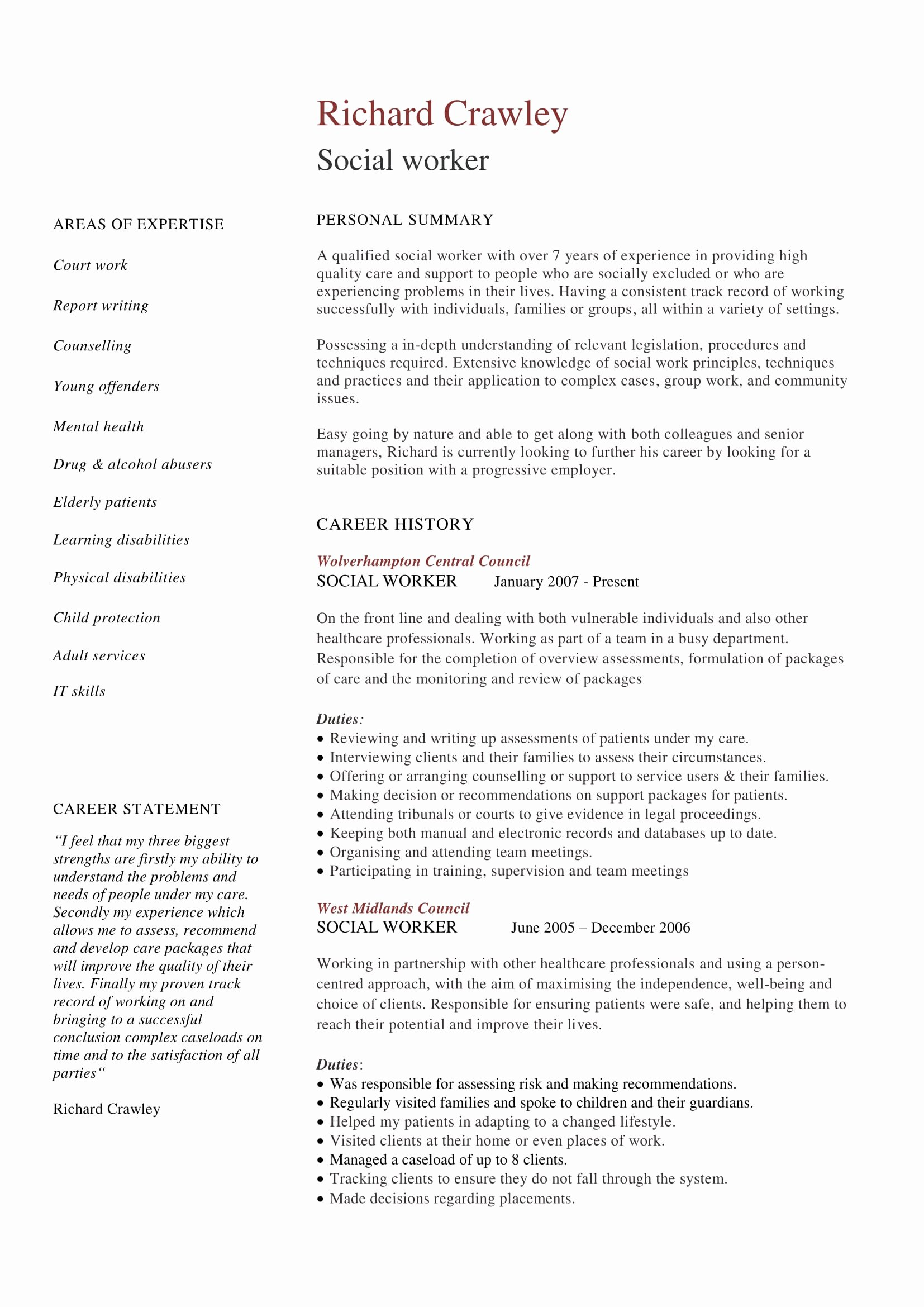 Entry Level social Work Resume Beautiful 14 Best social Worker Resume Sample Templates
