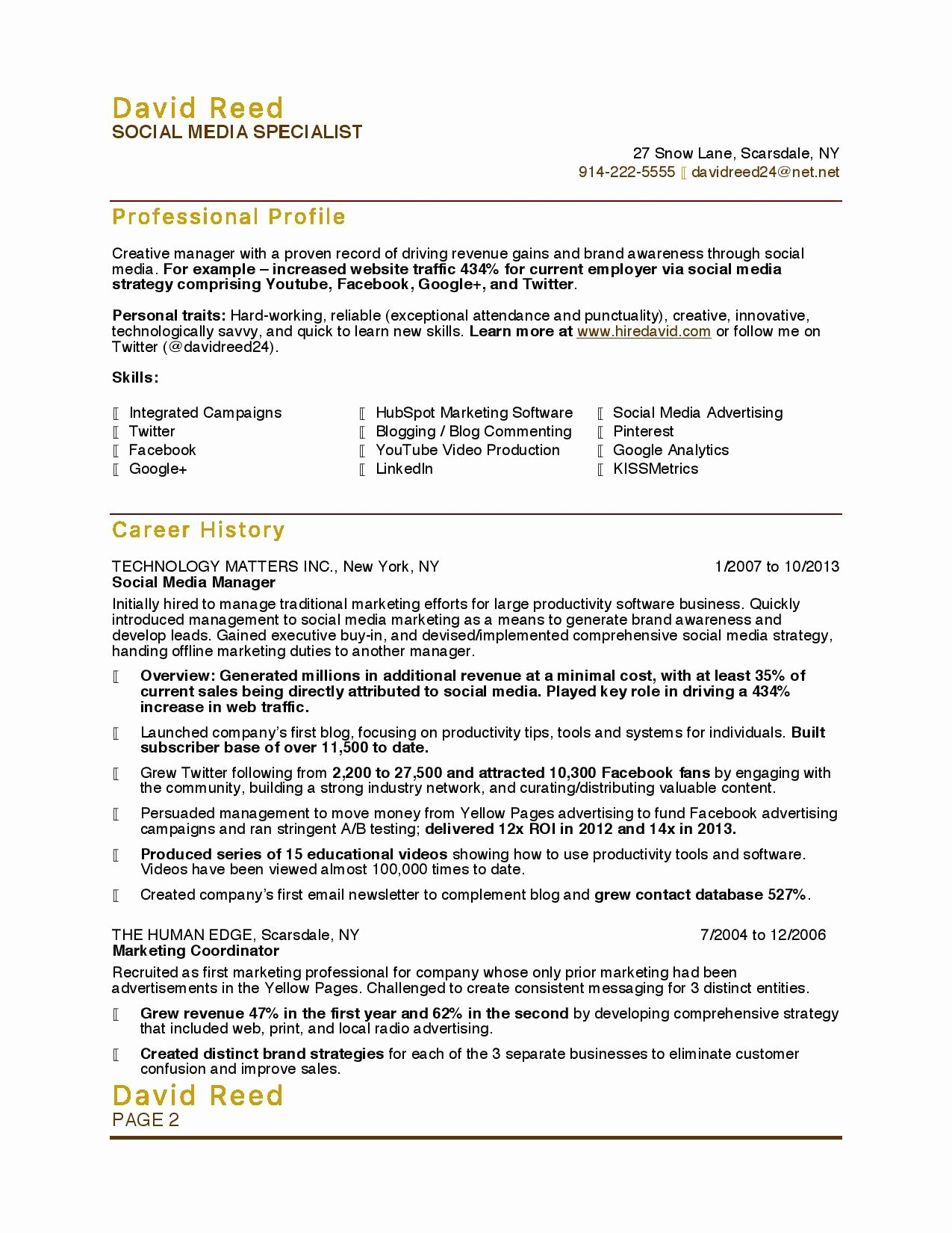 Entry Level social Work Resume New 10 Marketing Resume Samples Hiring Managers Will Notice