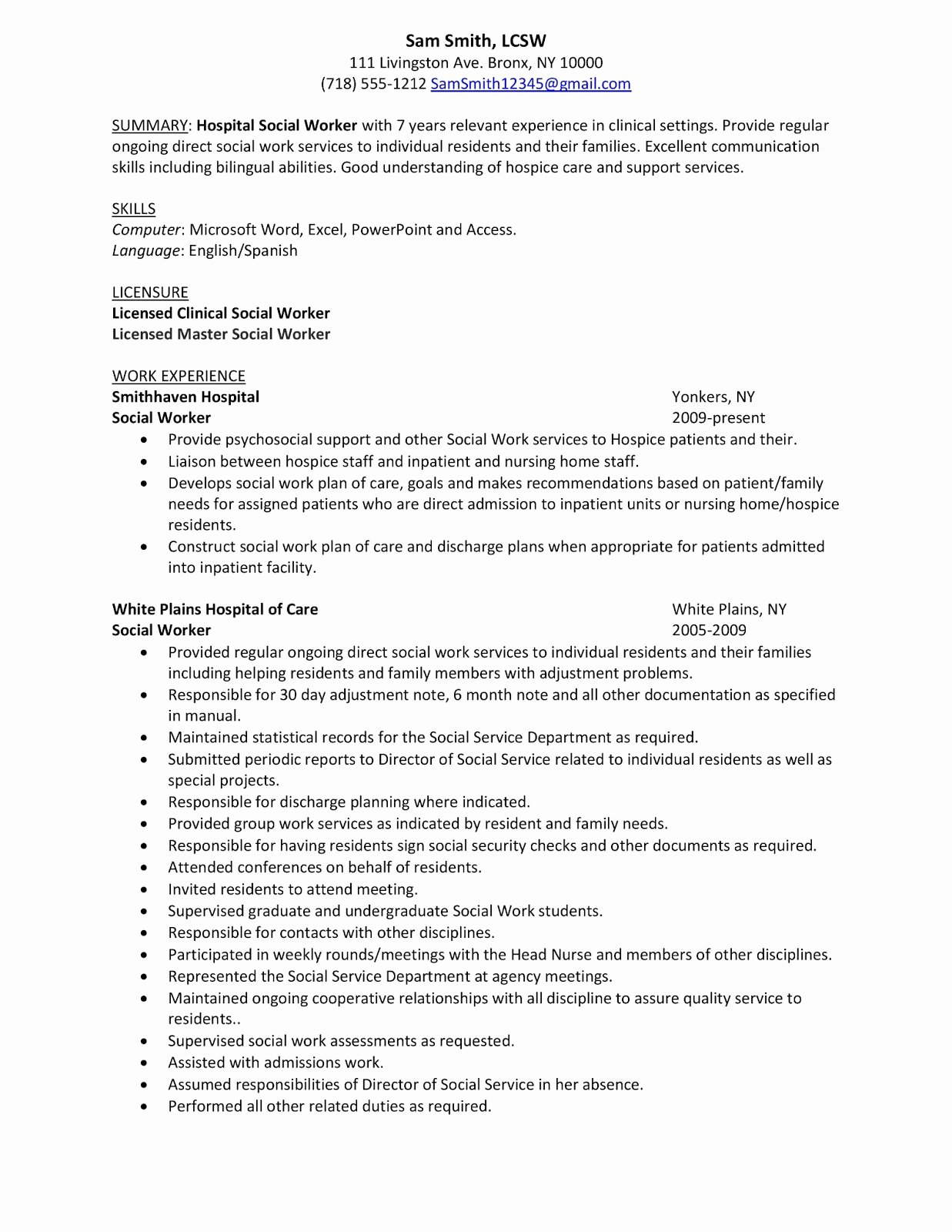 Entry Level social Work Resume New social Work Resume Objective Statement Samplebusinessresume Samplebusinessresume