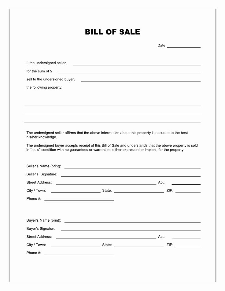 Equine Bill Of Sale Template New Printable Bill Of Sale Template Blank Bill Of Sale form Misc Pinterest