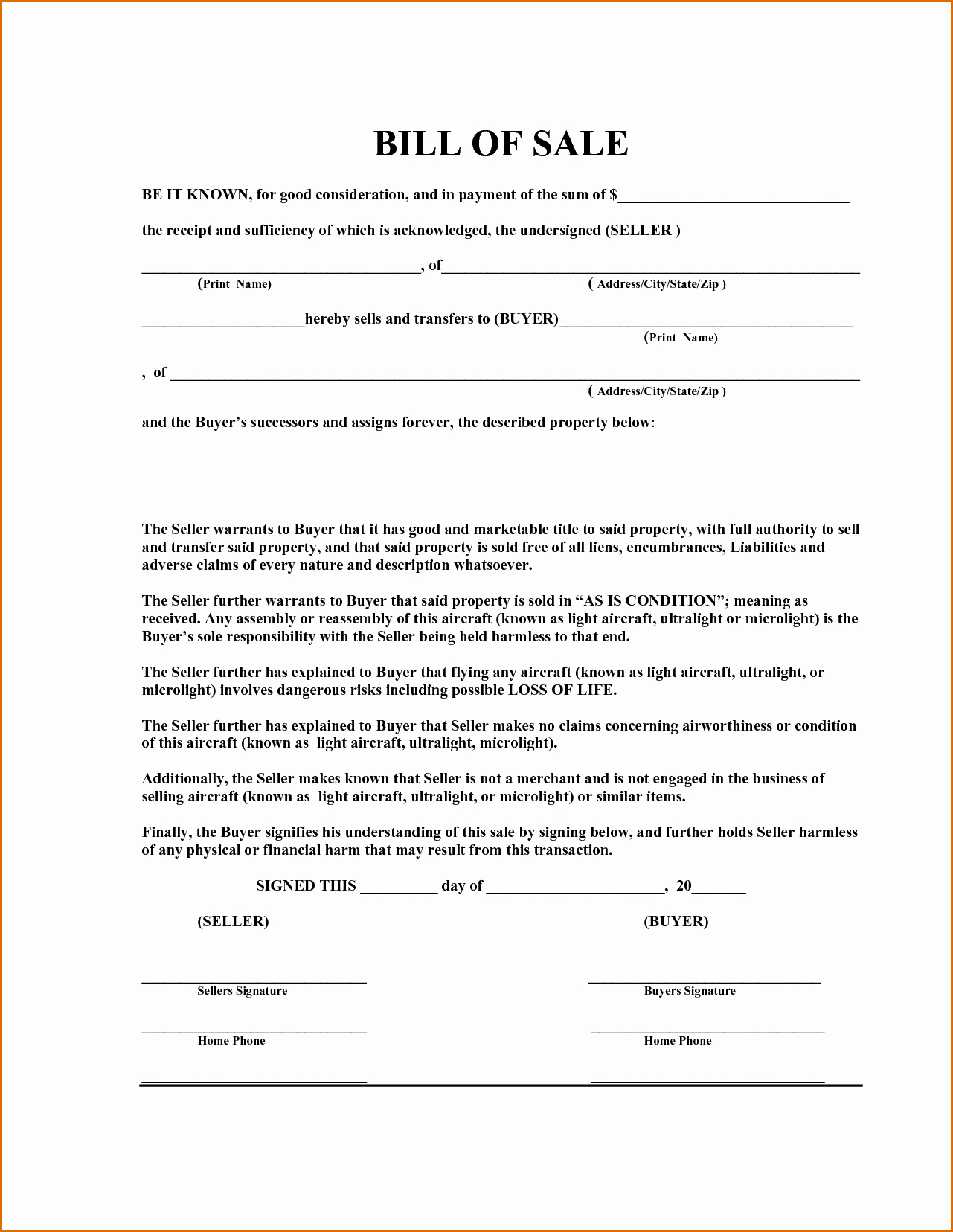 Equipment Bill Of Sale Best Of 12 Equipment Bill Of Sale Template