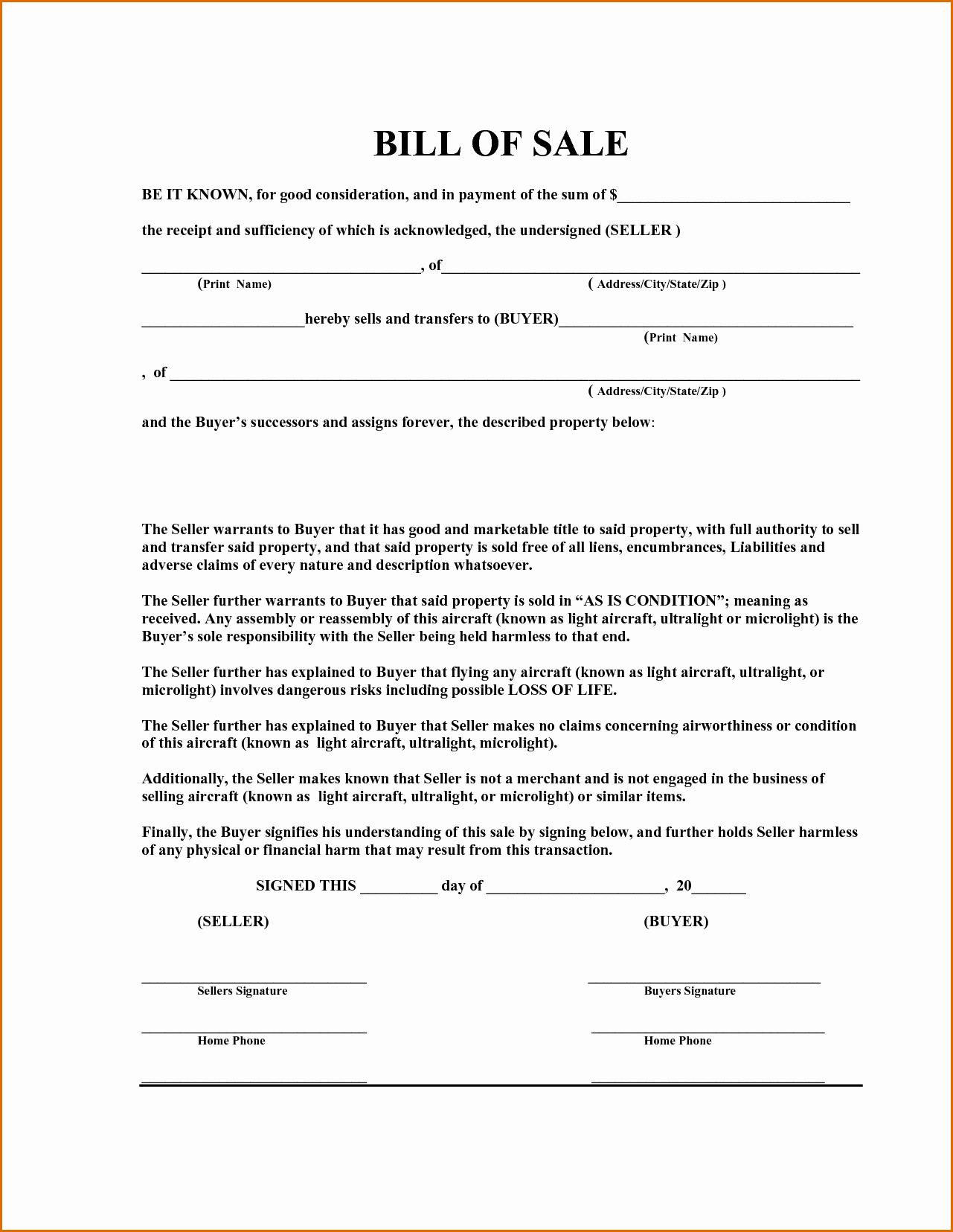 Equipment Bill Of Sale Best Of 12 Equipment Bill Of Sale Template