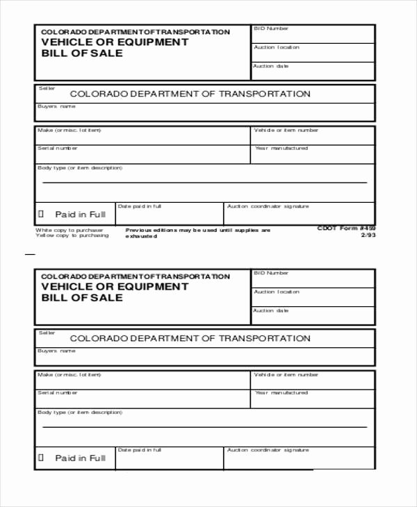 Equipment Bill Of Sale Best Of Equipment Bill Of Sale form Samples 7 Free Documents In Word Pdf