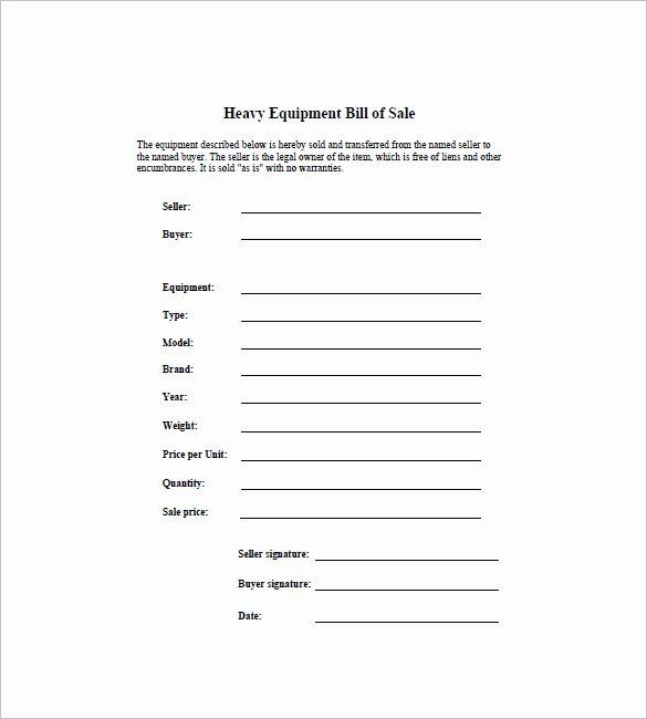 Equipment Bill Of Sale Elegant Bill Of Sale Template 44 Free Word Excel Pdf Documents Downloaad