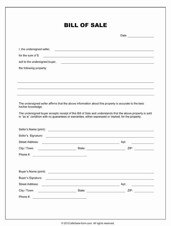 Equipment Bill Of Sale Pdf Awesome Free Printable Equipment Bill Sale Template form Generic