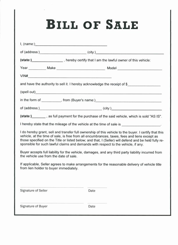 Equipment Bill Of Sale Pdf Elegant Download Bill Sale form Pdf