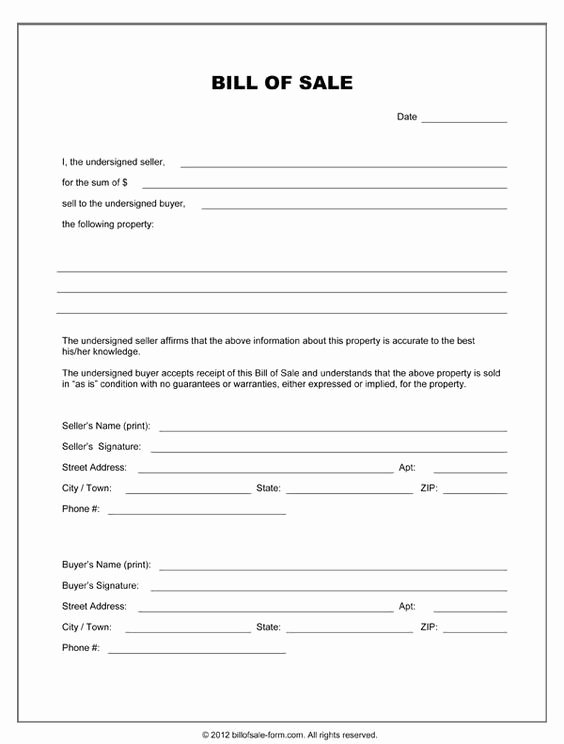 Equipment Bill Of Sale Template Lovely Printable Sample Equipment Bill Sale Template form Miscellaneous Pinterest