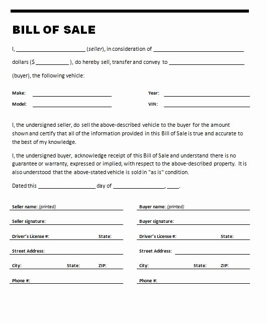 Equipment Bill Of Sale Template Luxury Free Printable Tractor Bill Of Sale form Generic