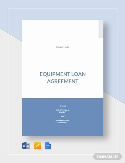 Equipment Loan Agreement Template Inspirational Free 12 Sample Standard Loan Agreement Templates In