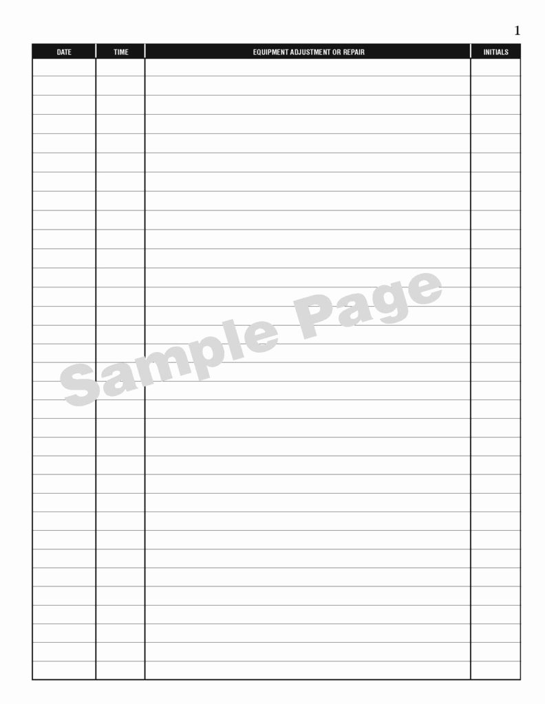 Equipment Maintenance Log Book New Maintenance Log Book Sturdy Flexible and Affordable