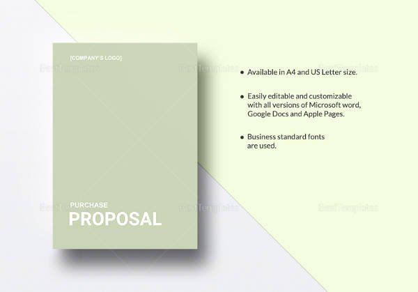 Equipment Purchase Proposal Template Inspirational Sample Purchase Proposal Template 15 Free Documents In