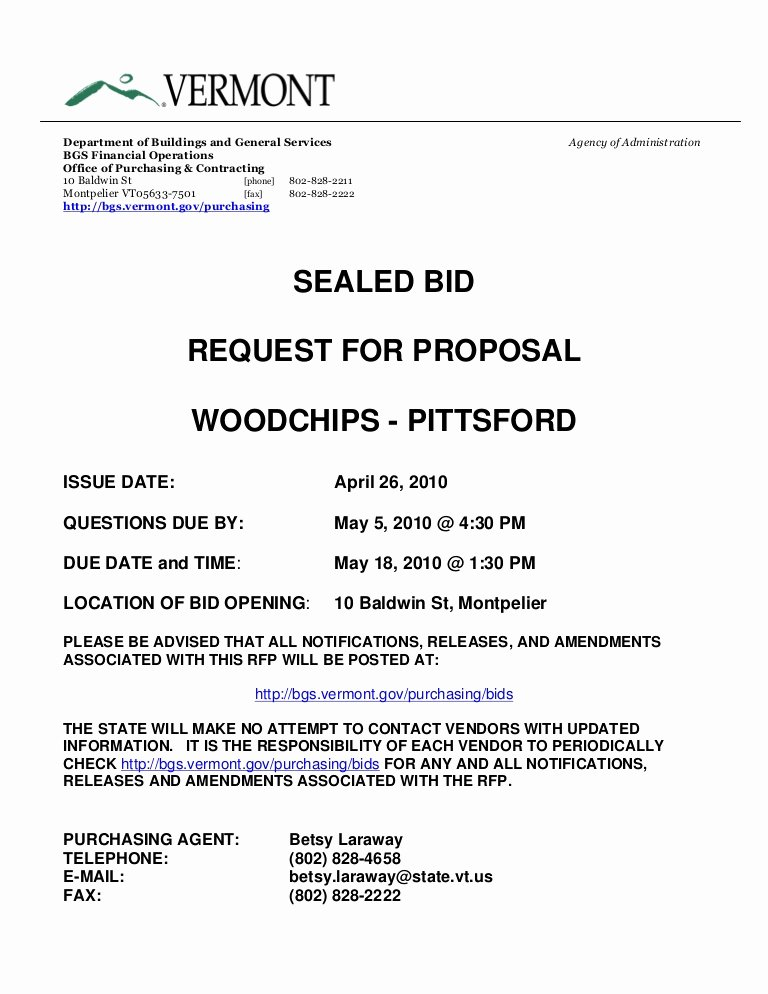 Equipment Purchase Proposal Template Luxury Sealed Bid Request for Proposal