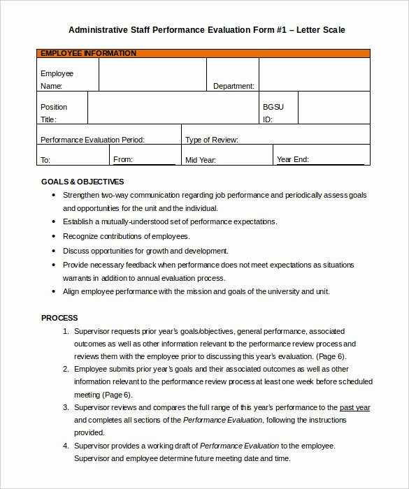 Evaluation Letter Sample for Employee Best Of 27 Sample Appraisal Letters Pdf Doc