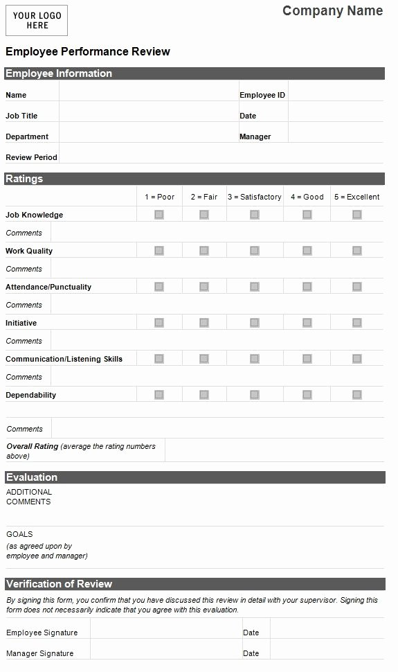 Evaluation Letter Sample for Employee Elegant Employee Evaluation Template