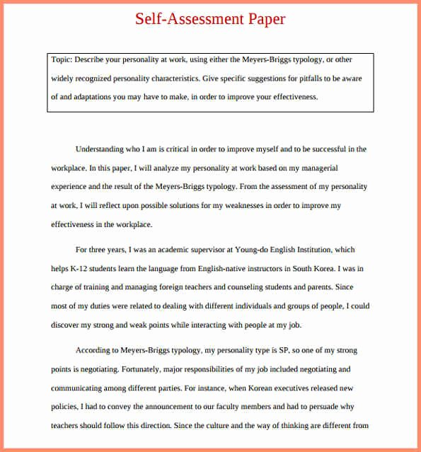 Evaluation Letter Sample for Employee Fresh Self Evaluation Examples