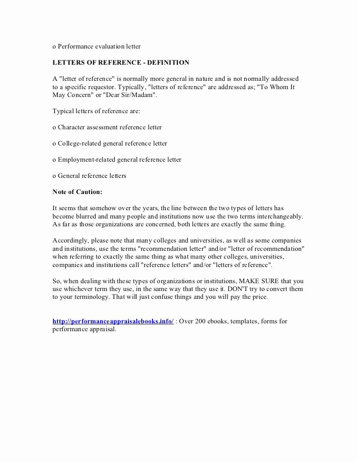 Evaluation Letter Sample for Employee Luxury Performance Evaluation Letters