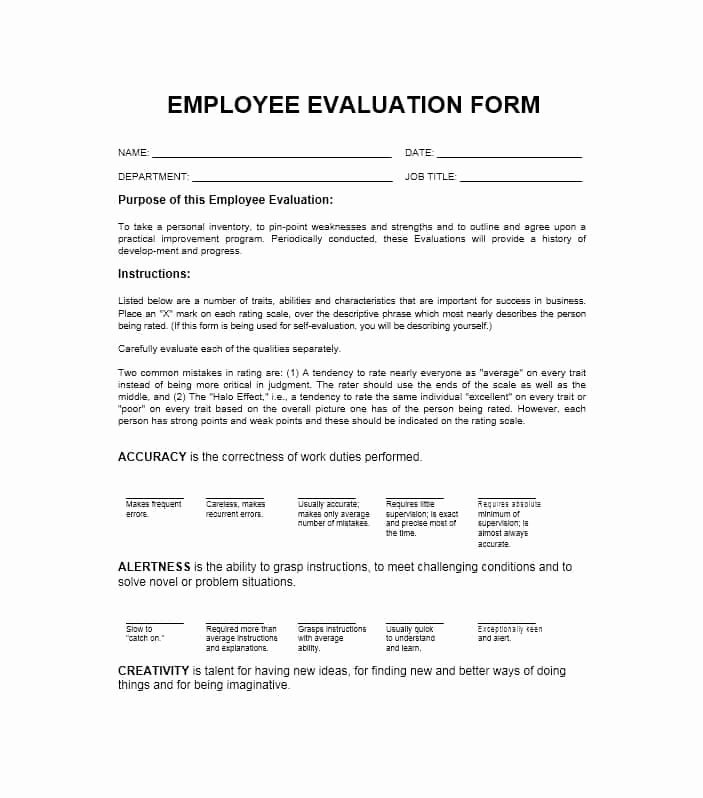 Evaluation Letter Sample for Employee Unique 50 Self Evaluation Examples forms & Questions Template Lab