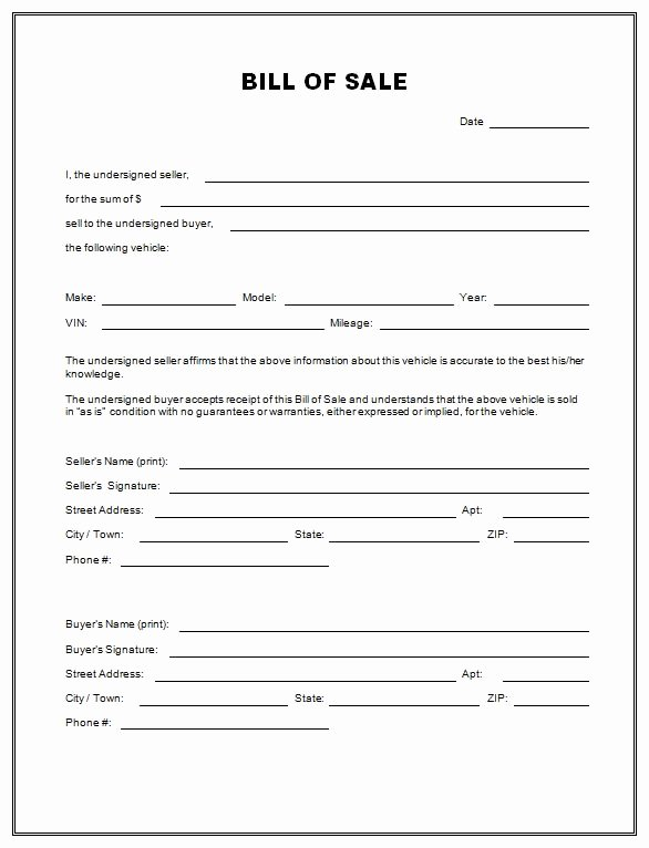 Even Trade Bill Of Sale Best Of Free Printable Free Car Bill Of Sale Template form Generic