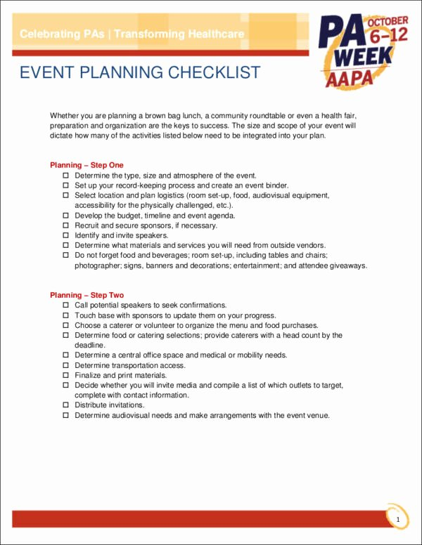 Event Planning Checklist Pdf Fresh 13 event Planning Checklist Ideas Samples & Templates In Pdf Word