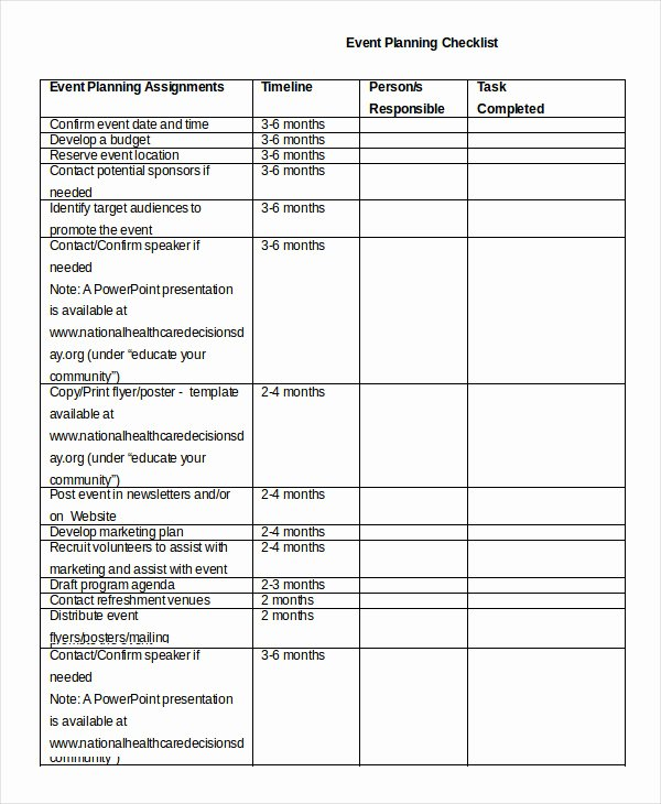 Event Planning Checklist Pdf Inspirational event Planning Checklist 16 Free Word Pdf Documents Download
