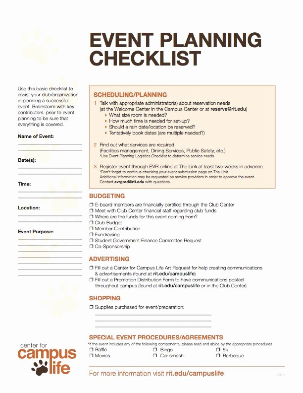Event Planning Checklist Pdf Lovely event Planning Checklist & Logistics