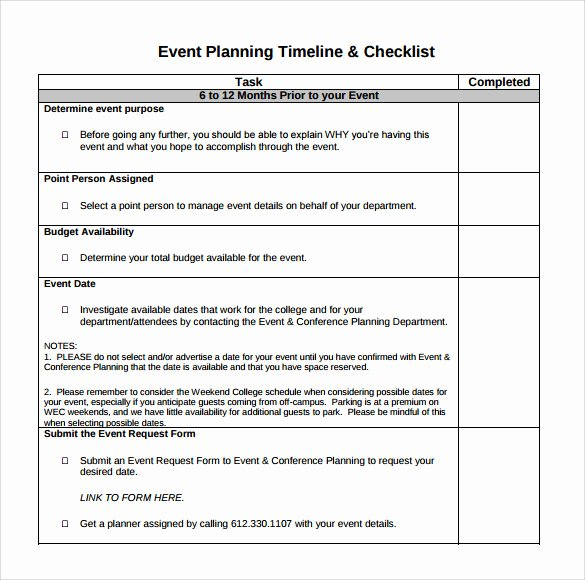 Event Planning Checklist Pdf Luxury Free 8 event Timeline Templates In Pdf