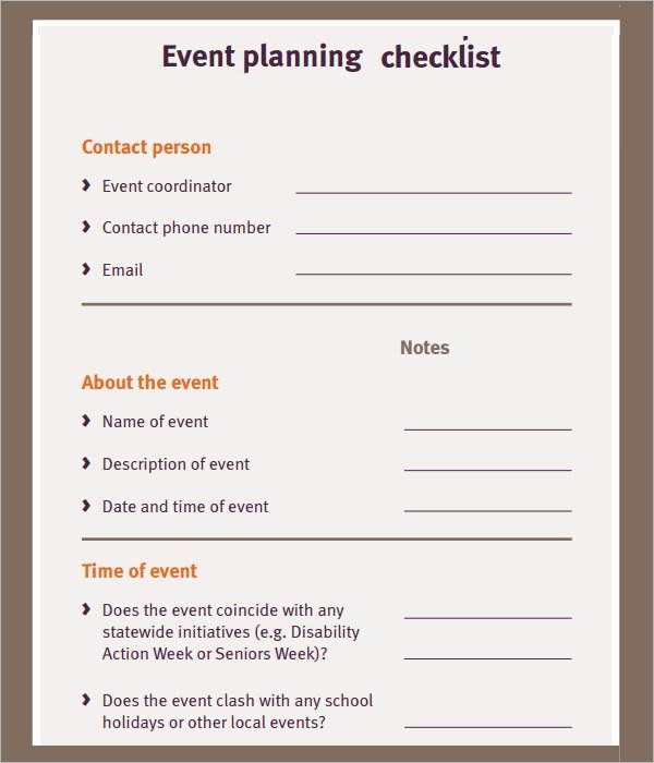 Event Planning Checklist Template Elegant 11 Sample event Planning Checklists – Pdf Word