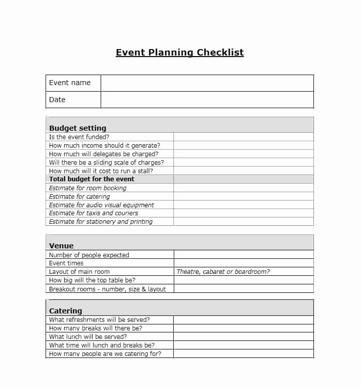 Event Planning Checklist Template Fresh 50 Professional event Planning Checklist Templates Template Lab