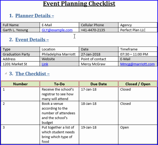Event Planning Checklist Template Lovely event Planning Checklist